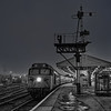 "50015 ""Valiant"" at Exeter St Davids with the 16:36 to Paignton, on 8th December 1984. Scanned Negative."