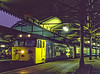 "50033 ""Glorious"" at Paddington with 1C56, the 17:07 to Hereford, on 5th November 1983. <br /> Scanned Transparency."
