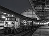 "50008 ""Thunderer"" at Paddington with 1F52, the 19:03 to Oxford, on 1st Decenber 1984. <br /> Scanned Negative."