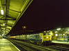 "50047 ""Swiftsure"" at Reading with an unidentified vans working, on 2nd July 1983. <br /> Scanned Transparency."