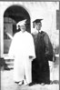 Wilson Connell, right, NHS graduation, 1935