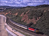 """47769 """"Resolve"""" approaching Dawlish Warren, with 1M56, the 08:46 Penzance - Manchester, on 17th September 2001. Scanned Transparency."""