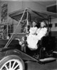 Elmo Jenkins and wife in antique car