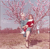 peach blooms on R A  Stallings farm - Elizabeth Knight and grandmother