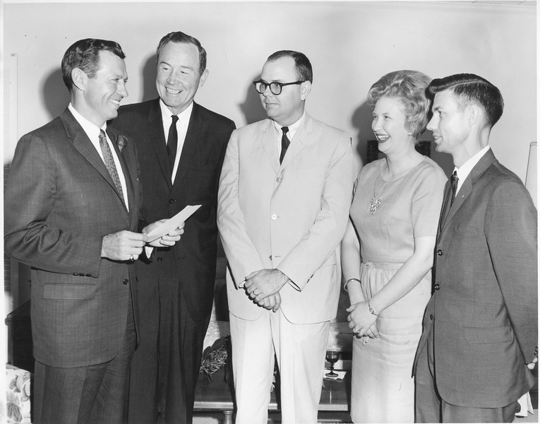 Governor Carl Sanders and Local Presidents, April 1965