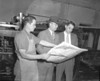 The Nashville Herald, front page, April 1, 1948<br /> Photo caption:<br /> A LOOK AT THE NEW LOOK – Shown checking the first pages of this edition of The Herald are, left to right, Lessie Lewis, Linotype operator-foreman, A.W. Starling, editor, and Chris Brady, news editor. – Photo by Jamie Connell.<br /> <br /> <br /> <br /> <br /> <br /> JC_LFN_000348_Herald New Look Issue_Lewis_AWS_Chris Brady_4-1-1948