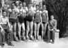 1946-47 Nashville High School Boys Basketball Team<br /> Coach:  Lossie Gaskins<br /> First NHS basketball team after WWII<br /> <br /> <br /> JC_MF_000478_Nashville High School Boys Basketball c 1940s