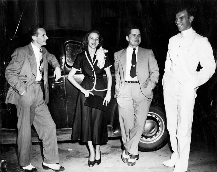Mary Alice and Bobby Clyatt wedding, late 1940s.