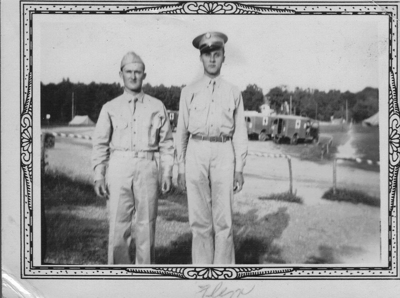 Flem J. Connell, right, during WWII. Photo courtesy of  his son, Jack Connell.
