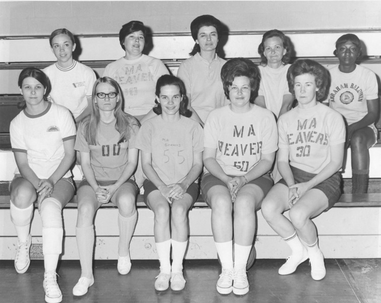 The Berrien Press, page 8, April 22, 1971<br /> photo caption:<br /> WINNERS – The Mama Beavers of Ray City won the benefit game for the cancer drive Friday night at Berrien High gym.  Left to right, are:  Front, Betty Passmore, Marjorie Cooper, Marie Shealey, Ann Smith, Shelby Roberts; second row, Peggy Passmore, Zebbie Johnson, Meredith Webb, Liz Gaskins and Evelyn Lewis.