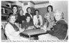 The Wednesday Bridge Club, 1988, usually held in a different member's home each week. Seated left to right: Margie Tygart, Mrs. Dorsey, Perry, Levin. Standinging: Mrs. Martin, Mathis, Dickson, Watson, Moore. Scanned from the Valdosta Times newspaper. Original photo needed.