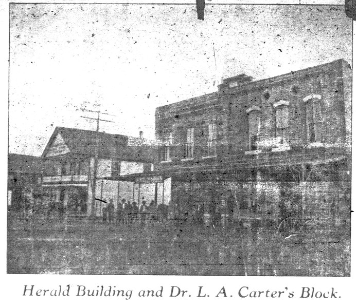 Herald Building and Dr. L. A. Carter's Block