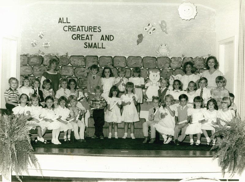 Womans Club Kindergarten graduation prob early 1980s