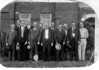 The Nashville Herald, front page, April 15, 1937<br />      Officials of the City of Nashville join hand in hand at this time in offering congratulations to the present owners and publishers of The Herald upon the completion of ten years of operation.  Names of those above and their positions follow:  Front row left to right - H.L. Jackson, city attorney; C.F. DeVane, councilman; J.V. Talley Sr., mayor; N.T. Peeples, councilman; M.C. Chism, councilman; Wesley Griner, chief of police.  Back row left to right - J.C. Gay, night policeman; A.E. Bullard, city clerk; Edgar L. Griffin, councilman; W.L. Clark, councilman; W.M. Snead, councilman; A.J. Connell, water superintendent.  Photo by Pat Sullivan, who maintains a studio and is the official photographer of The Nashville Herald.<br /> <br /> <br /> <br /> Men on East Side of Courthouse<br /> <br /> photo was reprinted in The Berrien Press, front page, January 20, 1966 - Full cutline will be added here later.  photograph made in 1935 by a photographer named Pat Sullivan.<br /> <br /> Identification by Wilson Connell as follows: (L-R)<br /> H. L. Jackson, __________, Claude Devane, A. E. Bullard, , J. V. Talley, Edgar Griffin, ____Peeples, W. L. Clark, M. C. Chism, _________, Wesley Griner, Alden Connell.