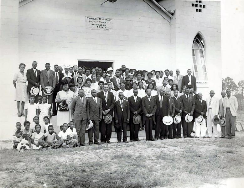 Emanuel Baptist Church, identifications needed.