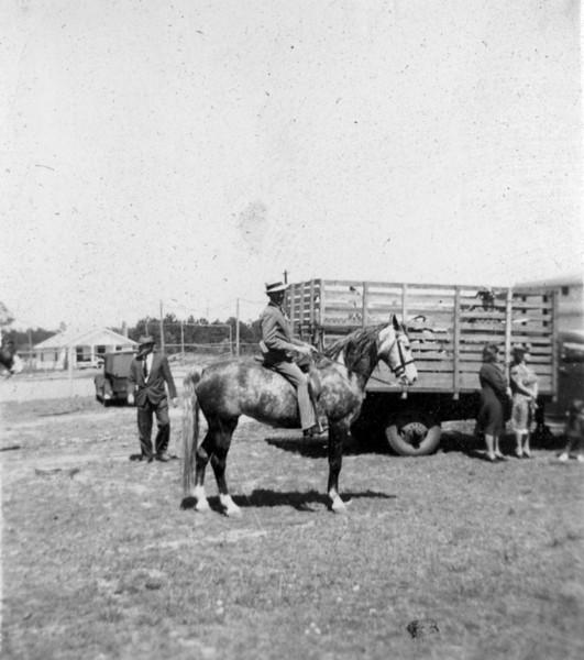 Photographs of Horse Shoe on Nashville High School (later Nashville Elementary School) Campus. (Photographs courtesy of Arch Clark)