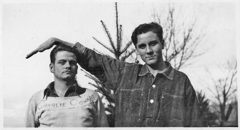 Flem J. Connell, right, in the CCC camp, out in Oregon. Photo courtesy of his son, Jack Connell.
