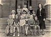 Kindergarten Class of 1949-50, believed to be the first kindergarten in Berrien County.<br /> Photo courtesy of Ron Mathis. Identifications needed.