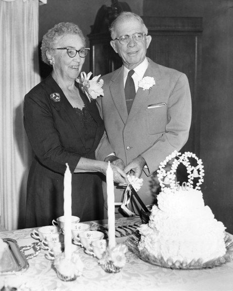 Mr and Mrs Frank Griffin 50th Anniversary 1960s