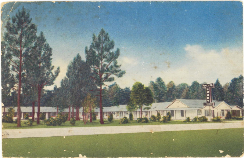 Maluda Court Postcard, Nashville, GA<br /> Courtesy of Leuna Kent