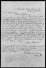 Copy of  letter, dated 29 April 1868, by Berrien County's first Sheriff John Studstill, to President Andrew Johnson, asking for a special executive pardon in order to hold the  office of Sheriff of Berrien County. (Courtesy of Jason Miller)