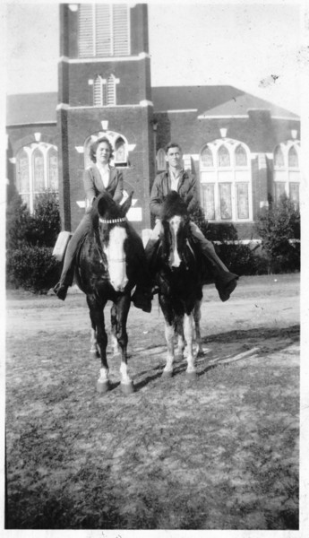 Lacy Clark (1925-1990) and unidentified female, circa 1940s.