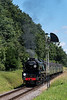 """35006 """"Peninsular & Oriental SN Co"""" waits for the Ropley Down Outer Home signal to clear,<br /> with the 12:10 Alton - Alresford, on 2nd July 2017."""