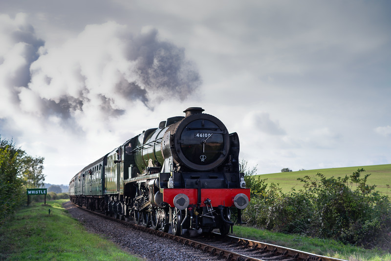 "LMS No. 46100 ""Royal Scot"" at Northside Lane with the 16:00 Alresford - Alton, <br /> on 21st October 2016."