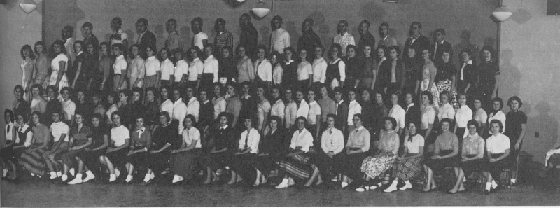 1956-57 Glee Club (from yearbook)