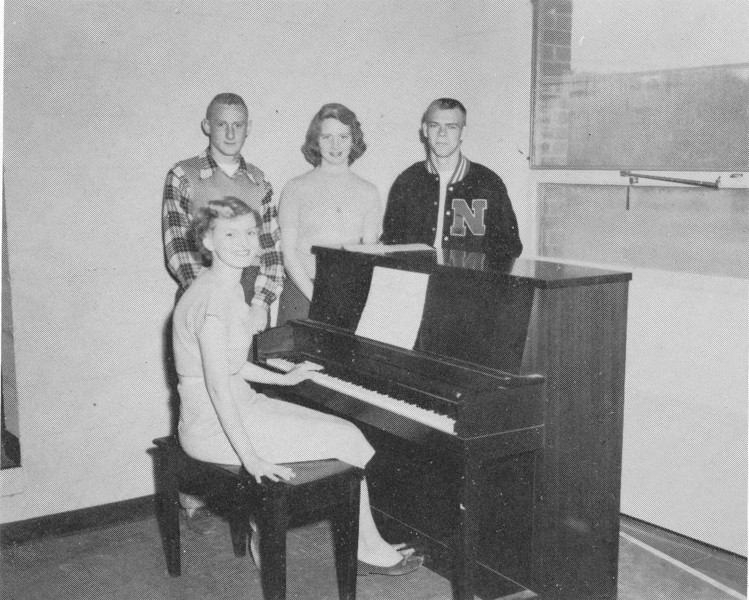 1954-55 Glee Club Officers (from yearbook)