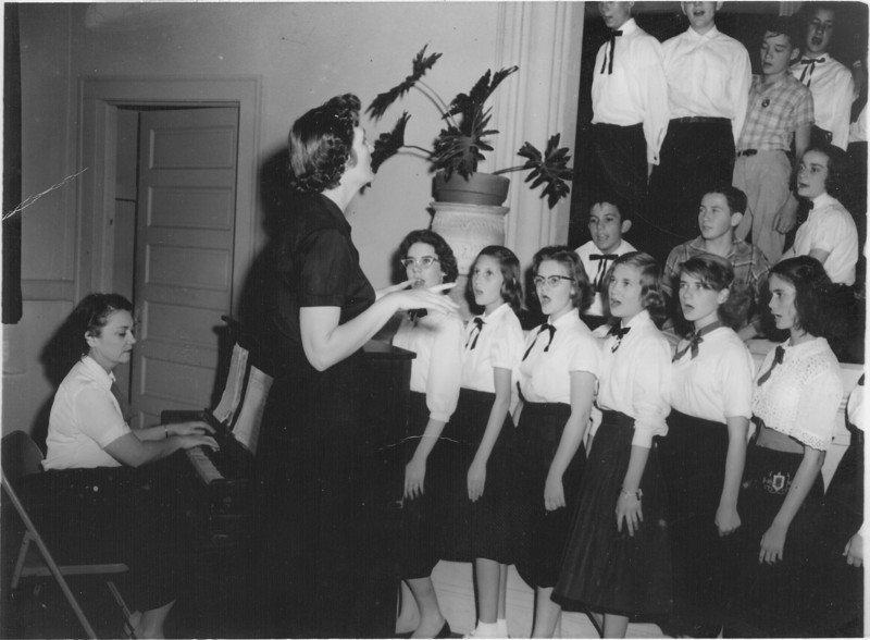 NES - 1956-57 Chorus <br /> Mary Erneste Houston and Vivian Henderson<br /> <br /> photo courtesy of Lou Houston Perryman