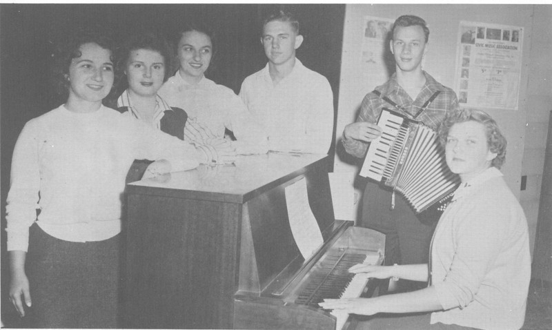 1955-56 Glee Club Officers (from yearbook)