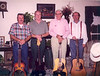 Back Porch Pickers, about 2000. Left to right: Vinson Boykin, Johnny Brantley, Bill Hollis, Terry Hesters. Photo courtesy of Johnny Brantley.