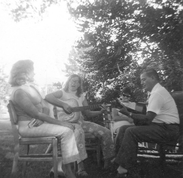 Janet, Nancy and  Walter Brantley