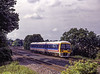 166210 on an unidentified service at Lower Basildon, on 15th July 1995. <br /> Scanned Transparency.
