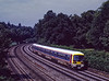 465001 on a test run at Pirbright, on 29th July 1992. Scanned Transparency.