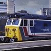 """50017 """"Royal Oak"""" on display at Waterloo during Network Day on 21st June 1986. <br /> This was the original version of the livery. Scanned Transparency."""