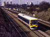 165019 on a crew training run at South Moreton, on 15th February 1992.  <br /> L211 is on a local service. Scanned Transparency.