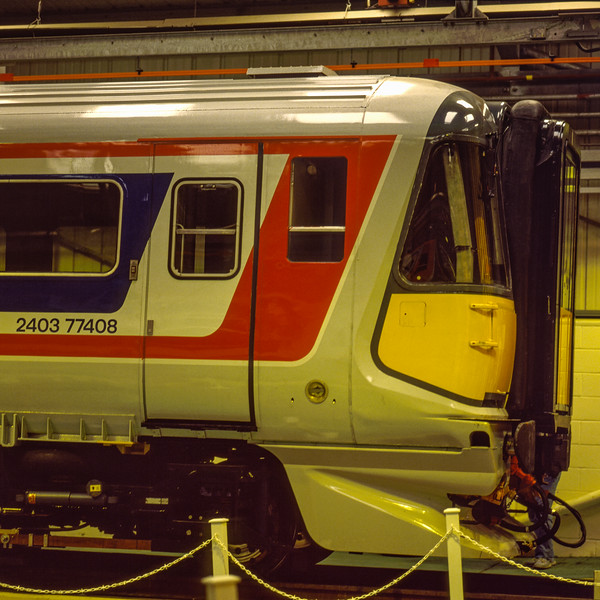 442403 on display during the Open Day at Bournemouth T&RSMD, on 26th March 1988. <br /> This was held to mark the impending electrification to Weymouth. Scanned Transparency.