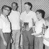1969 Little League Baseball Awards<br /> <br /> The Berrien Press, page 6, August 7, 1969<br /> Photo caption:<br /> AWARDS – At the annual cookout for players and parents, the awards were made by Arnold Griner, left, president of the Little League, to outstanding players, and James Marshall presented a plaque of appreciation for 10 years service to the league to Bobby Prickett.  Left to right, are, Mr. Griner, Mr. Marshall, Mr. Prickett; Mike Dieas of Alapaha Braves, most outstanding sportsman; Russell Roland of Red Sox, most outstanding rookie of the year.
