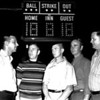 1972 Berrien County Little League Officials<br /> <br /> The Berrien Press, front page, April 27, 1972<br /> Photo caption:<br /> PLAY BALL – Officials of the Berrien County Georgia 9-12 Baseball League discuss the Monday night opening in front of the new $600 scoreboard donated by Pepsi Cola.  Left to right, are George Hughes, president; James Karras, vice president; Bobby Kent, secretary; Jimmy Griffin, treasurer; Bobby Prickett, player representative.  Players and schedules are shown on page 9.