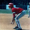 1987 BHS Baseball - Clay Rampey gets a lead against Camden County in the Region 2-AA playoffs.