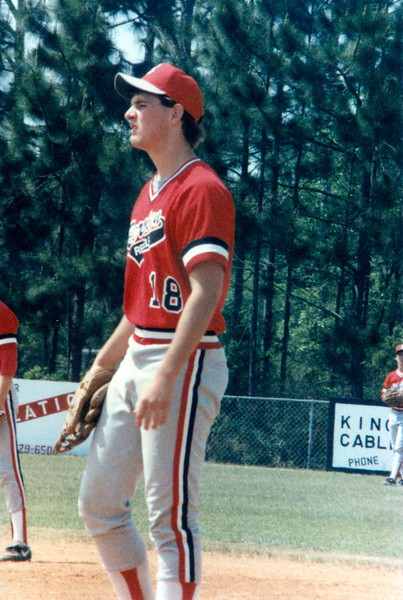 1987 BHS baseball -- Bo Houston at Camden County in Region 2-AA playoffs.