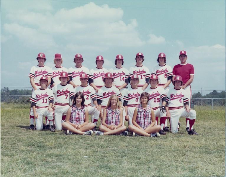 1974 BHS Baseball Team<br /> <br /> photo courtesy of Melba Phillips