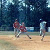 1987 BHS baseball - Stan Nix prepares to make the tag against Camden County in the Region 2-AA playoffs in St. Mary's.  Scott Purvis backs up at 2nd.