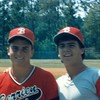 1987 BHS baseball - Doug Nix and Lynk Kirkland at Camden County in Region 2-AA playoffs.