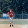 1987 BHS baseball - Scott Purvis prepares to field a ball against Camden County in the Region 2-AA playoffs.