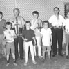 1968 Little League Award Winners<br /> <br /> The Berrien Press, page 9, August 22, 1968<br /> Photo caption:<br /> LITTLE LEAGUE WINNERS – Top awards of the Little League Baseball presented at the annual picnic for players and parents included:  Left to right are:  Front, tie of three for rookie of the year, Ricky Tucker, Rodney Hancock and Pat Ponce.  Back row, Tony Slaughter, sportsmanship award; Winfred Chambless with winner's trophy, Braves sponsored by Alapaha Lions Club; David Tucker, most valuable player; John Chambless with runner-up trophy for Yankees, sponsored by The Citizens Bank; Jimmy Luke, most improved player.