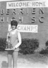1972 Dona Fields with state championship trophy