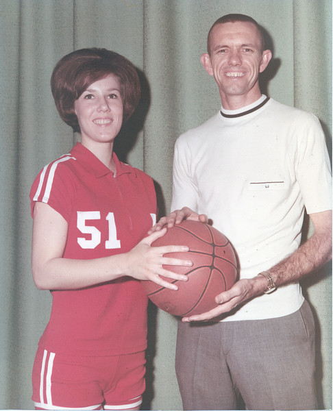 The Berrien Press, front page, January 8, 1970<br /> photo caption:<br /> WINNERS - High scorer for the Rebelettes, Marla Brown and coach Stanley Simpson look for another good basketball season this year.<br /> <br /> <br /> photo name: Marla Brown and Stanley Simpson - JC